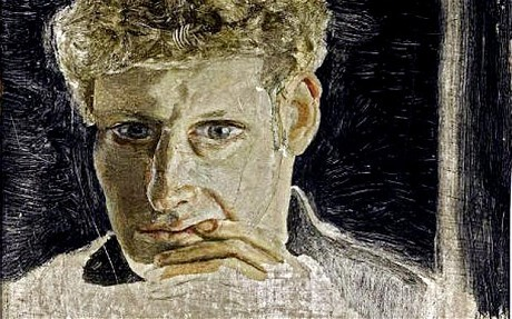 Lucian Freud, miniature self-portrait painted while staying with author Ian Fleming in 1952.