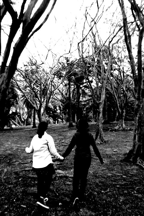 My daughters in the forest of slenderman