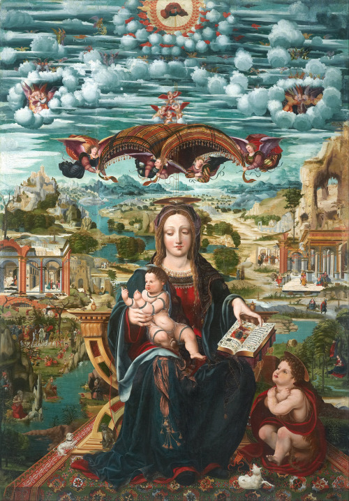 Joan de Burgunya - Virgin and Child with the Infant Saint John; Museu Nacional d'Art de Catalunya, Barcelona, Spain; c.1515 - 1525