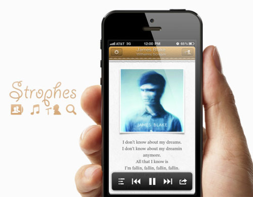 Strophes iPhone : Get Lyrics without any tweaks (free app)