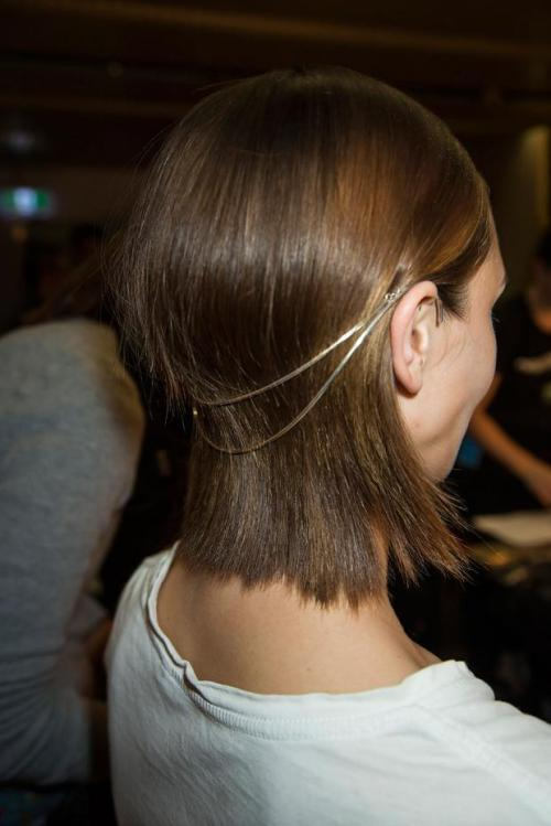 what-do-i-wear:   Backstage at Dion Lee Spring / Summer 2013