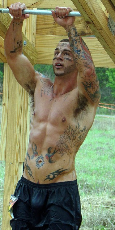mancrushoftheday:   pigboyny:  OMG!!!  All that sweat……all that ink!!!!  The Man Crush Blog / Facebook / Twitter
