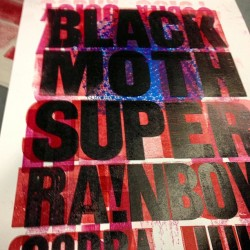 #letterpress #woodtype #blackmothsuperrainbow #bmsr