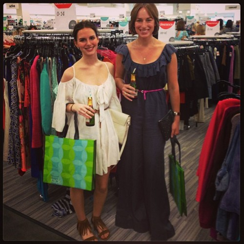 Preview Soirée at the new Nordstrom Rack store! Mini champagne & great shopping = happy femmes!