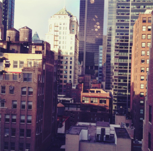 calvinklein:  Sunny New York day out the window.  It looks like summer, but I can tell you it's far from it.