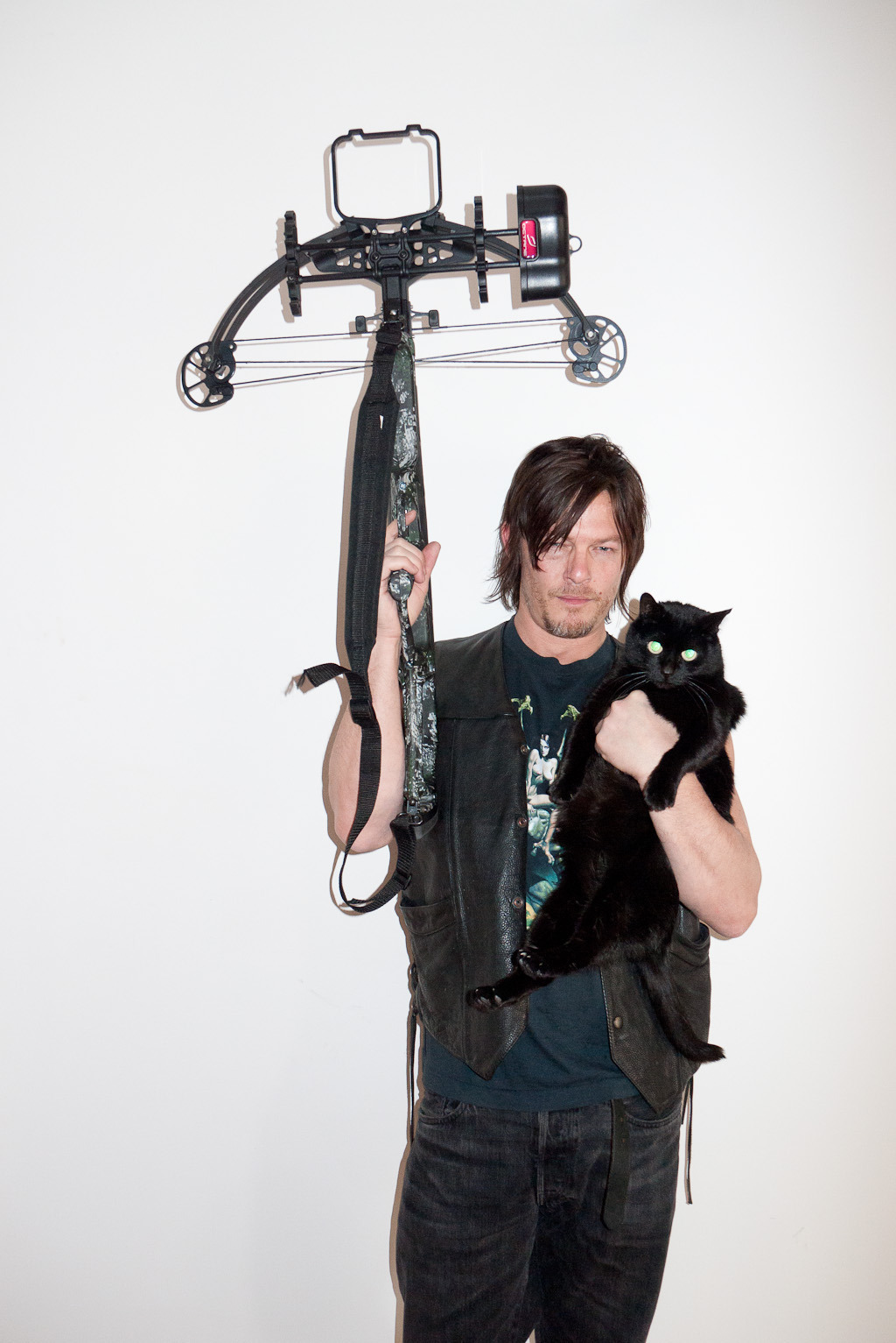 terrysdiary:  Norman Reedus at my studio #3  Genius!
