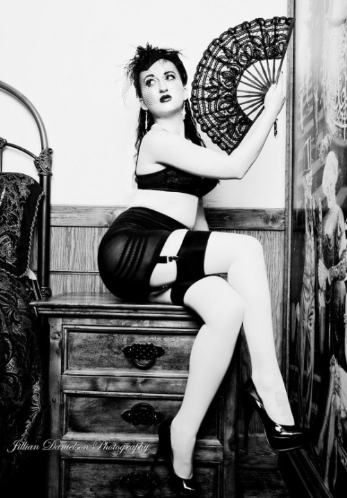 Melissa MisfortuneJillian Danielson Photography  ~All credit goes to models and photographers. Please message if you want your photos deleted.~ #Melissa Misfortune#alt model #jillian danielson photography #lingerie#pinup#pin-up #black and white