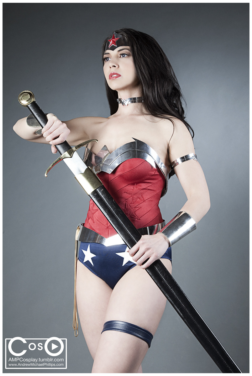 ampcosplay:  As usual, Margie Cox as Wonder Woman. Thomas Gaddis on make up