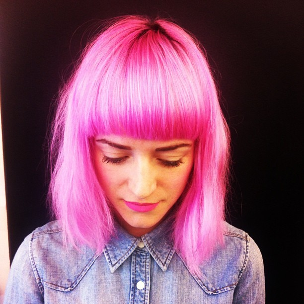 Pink bob by Sharmaine :)