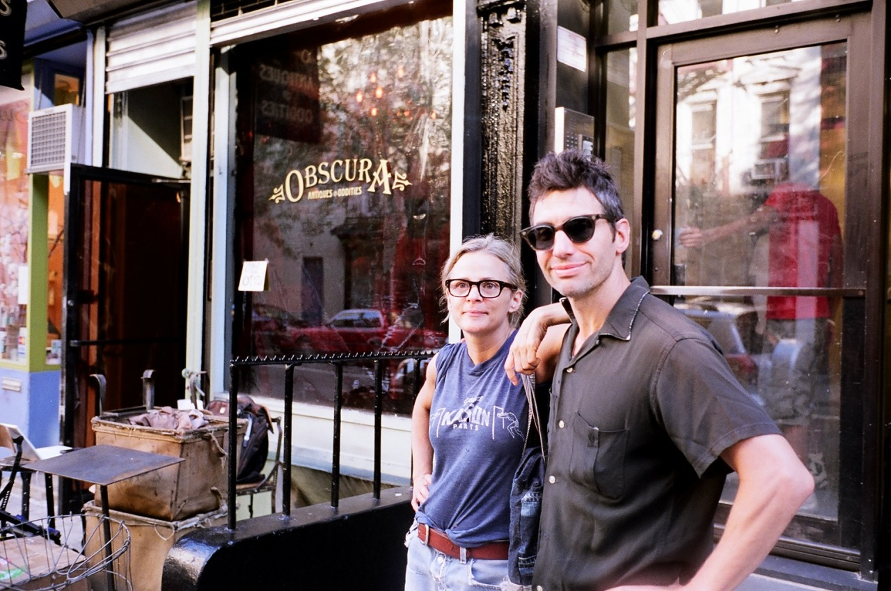 Amy Sedaris and Paul Dinello at the old Obscura after a scene.