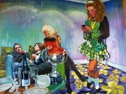 carolinarince:  Amazing Shannon Kincaid painting of Claire Greaney after winning one of her many All-Ireland titles