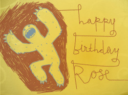 It's Rose's birthday today. I made this card for her a couple of years ago.
