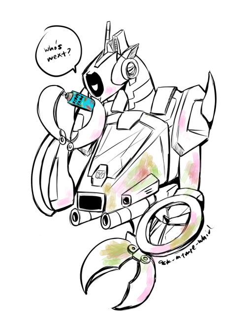 ask-mtmte-whirl:  ((Spray paint party! >_> …dedicated to the lovely ppl who have been RPing with us and keeping us from being lonely ))