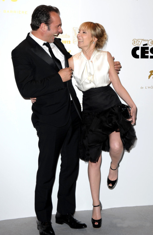 jeaninjeans:  polyvinylfilms:  Jean Dujardin and Audrey Lamy, 37th Cesars Jean would make a fantastique brother-in-law don't you think?  He is so cute.  A very belated Dujardin du jour.