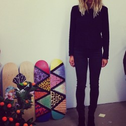 The insanely gorgeous @pip_edwards1 in a black sort of mood. #drdenim_au #lookoftheday #blackisblack
