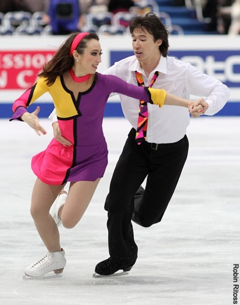 Cathy Reed and Chris Reed's free dance costumes at the 2013 Four Continents Championships. Their music was a Beatles medley.