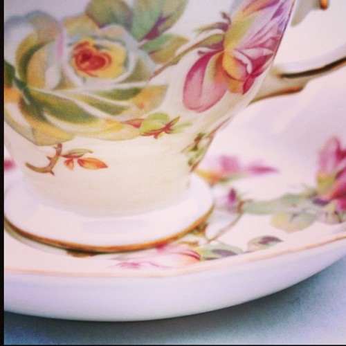 New to store Cream Roses Tea Cup & Saucer, cute! #vintage #vintagehome #vintagedecor #vintageliving  #vintageinterior #retro #retrohome #retrodecor #retroliving #retrointerior #kitsch #kitschliving #kitschdecor #kitschinterior #hightea #teacup #floral (at www.vintageandretro.com.au)