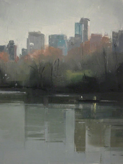 I love this painting of Central Park by Lisa Breslow, entitled 'Central Park Lake 4'. It's been almost 7 years since I visited New York and this makes me want to go back straight away.