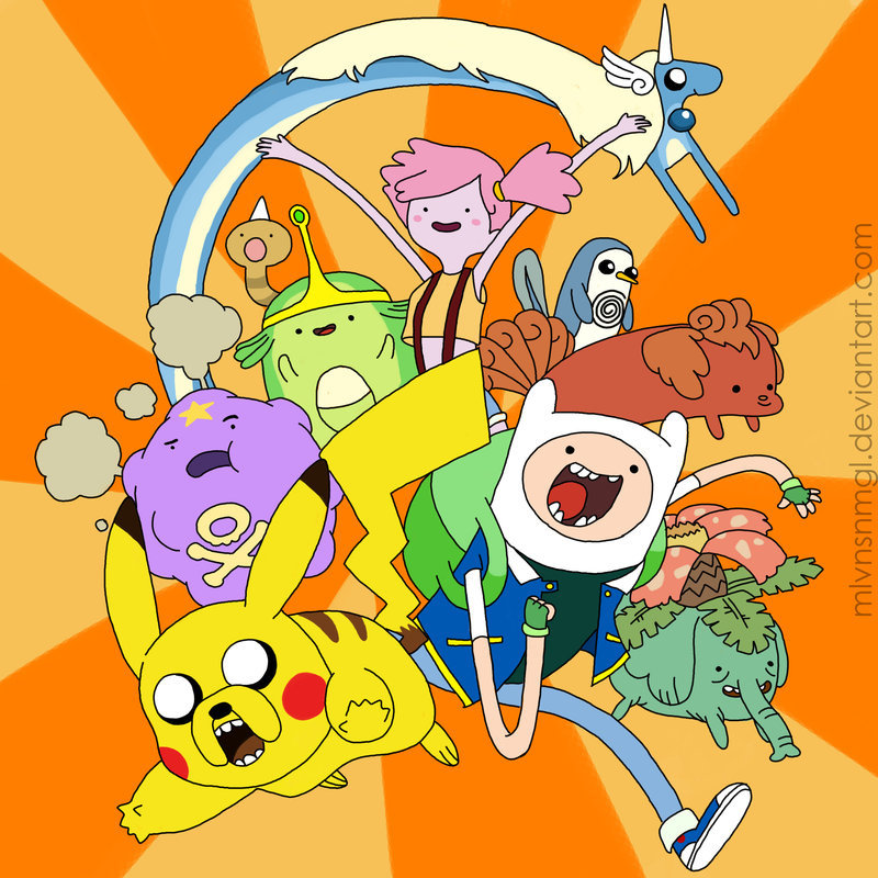 insanelygaming:  Adventure Time Poketime Created by Melvin San Miguel