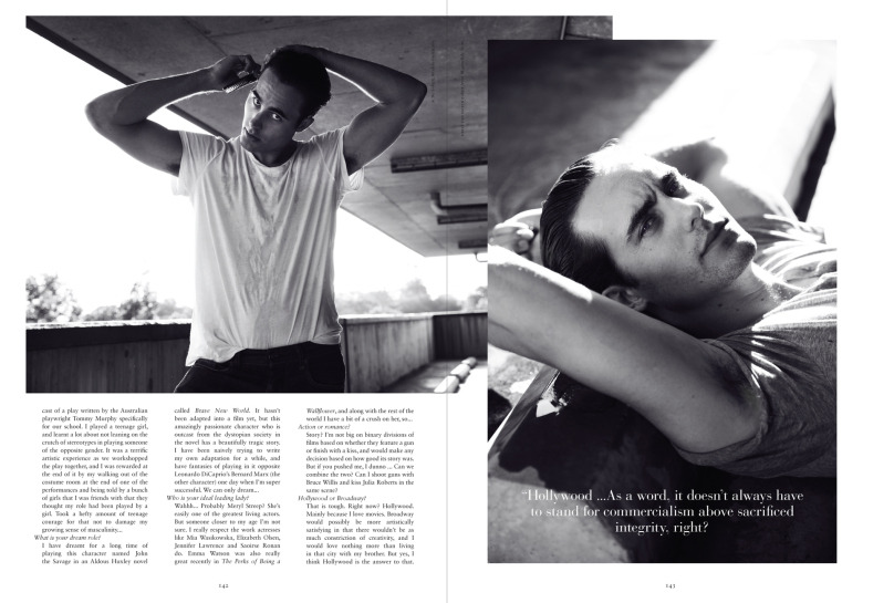 Russh Magazine featuring Oliver Edwin photographed by Will Davidson.