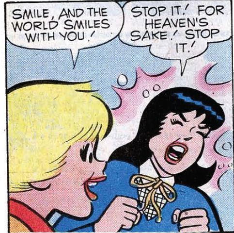 I think Betty was based off of Shawna. comicallyvintage:  Seriously.
