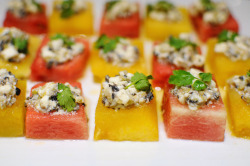 aperture24:  watermelon with feta cheese salad