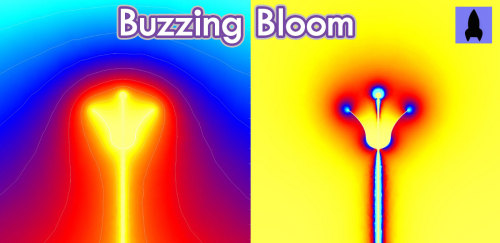 "jtotheizzoe:  Episode Extra: A Flower's Electric Field In the ""Electric Buzzaloo"" episode I did on YouTube, I showed you not only how bees find flowers using UV vision, but also mentioned that they can sense a flower's electric field. What does that look like? This image captures the slightly negative electric charge that most flowers carry since they're literally grounded. After being visited by one bee, it sheds some of that negative buzz to the positively-charged pollinator. If another bee comes along, it won't be attracted to the less charged (and less nectar-filled) flower. This maximizes a bee's chances of visiting fresh flowers and not wasting their time at an empty well. Read more at Nature News. Bee sure to check out the full episode on YouTube."