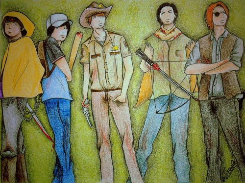 leana2012:  queenmatsujun:  The Walking Dead Arashi for @leana9101 and my pleasure <3  SO FREAKING AMAZING <3  omg omg omg!!! Fandom collides!! So great! Is that Ohno - Nino - Sho - Jun - Aiba? (I'm not sure about sho - aiba)