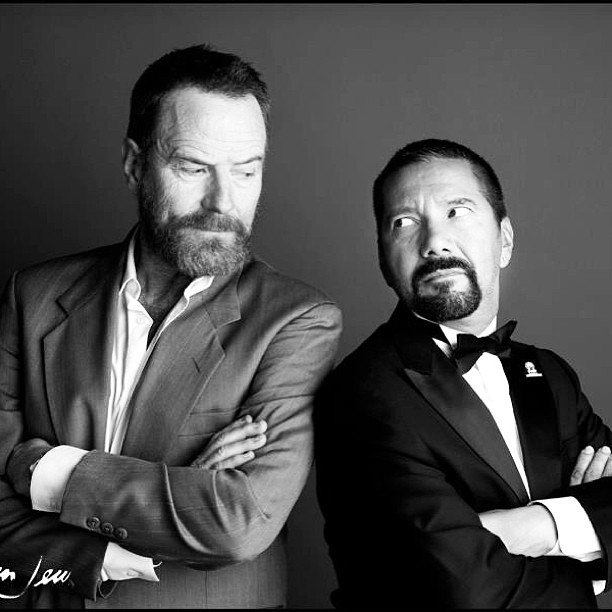 heisenbergchronicles:  Bryan Cranston and Steven Michael Quezada during a taping of The After After Party on Dec. 4, 2012