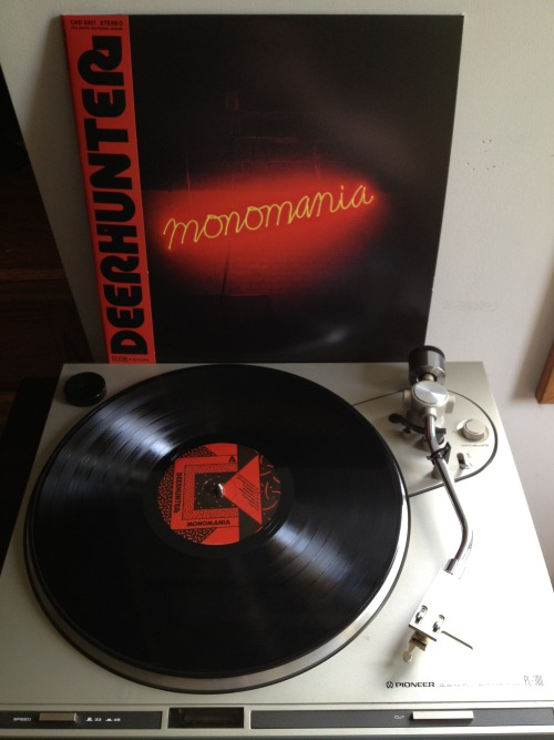 jocelynsrecordcollection:  Deerhunter - Monomania Black LP, 2013 4AD (USA)
