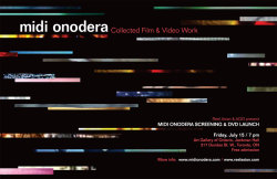 Midi Onodera Poster Design / DVD Design / Website Redesign