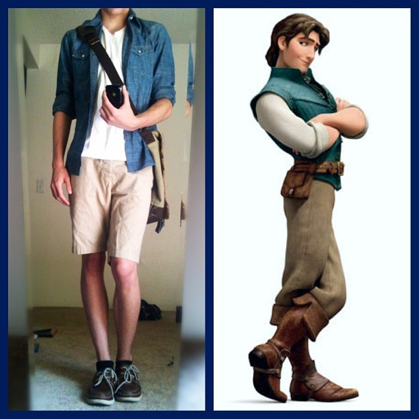 thefamehookerprostitutewench:  Today's outfit is inspired by Flynn Rider! 😏😎✌💙🍳 #FlynnRider #Tangled #EugeneFitzherbert #Disney #DisneyBound