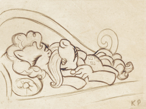 galleryofhorses:  Pinkie and Rarity sketch by KP-ShadowSquirrel