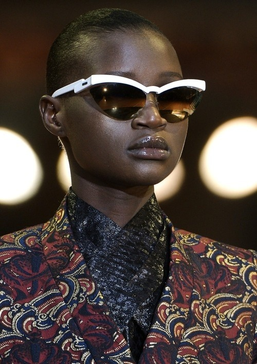 Shades & Swagger # 9 | On the catwalk, Ataui Deng for Kenzo AW13, Paris.