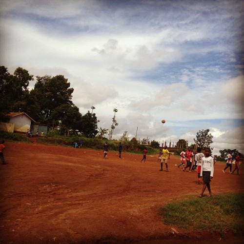 lisamarie620:  Football in Uganda (at Kisubi High)
