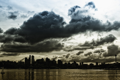shiftypete:  Seattle Skyline  I have talented friends.