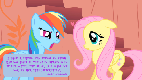 I have a friend who seems to think Rainbow Dash is the only reason why people watch the show. It's made me look at her fans differently.
