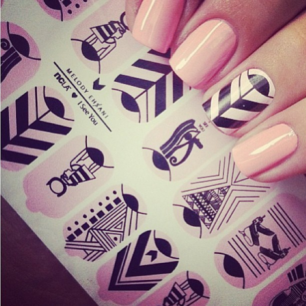 I see you nail wraps by #melodyehsani for @shopncla
