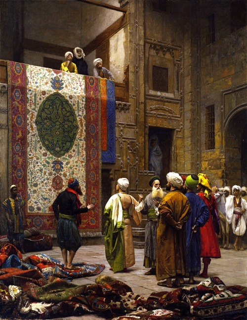 artofislam:   Jean-Léon Gérôme - The Carpet Merchant, 1887