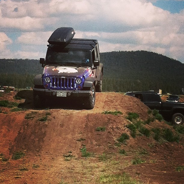 #Jeep over #obstacle #overlandexpo #mormonlake #northernaz #arizona #4x4 #suspension #dirt