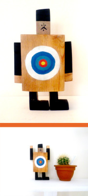 Rob Hodgson, Target, Wooden Toy made from 200 year-old pitch pine