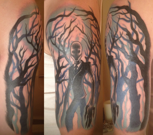 My Slender Man Tattoo Finished