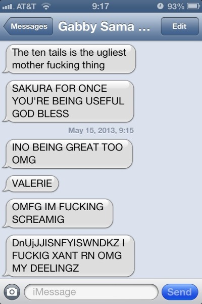 Gabby's reaction to the new Naruto chapter.
