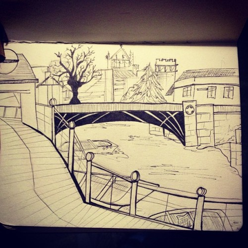 Punts on the river Cam #drawing #art #doodle #sketch #sketchbook #lineart #ink #copic #illustration #Cambridge #travel #uk #england