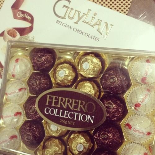 Sweets!! :)) #chocolates #ferrero #belgian