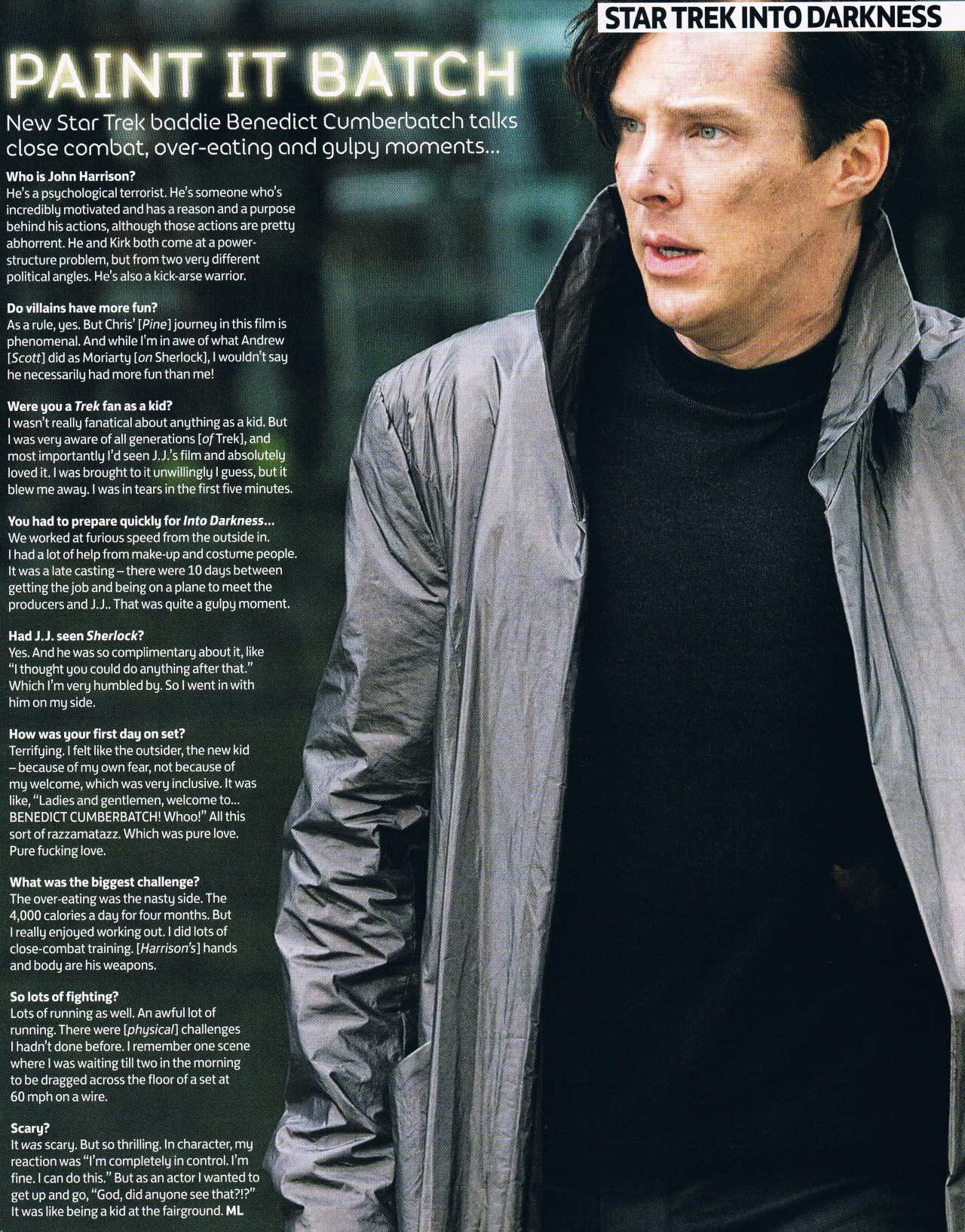 deareje:  scruffboots:  Star Trek - Benedict Cumberbatch  Total Film, June issue.