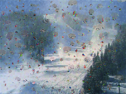 COLORADO SNOW EFFECT 9DAN HAYESOIL ON CANVAS2010
