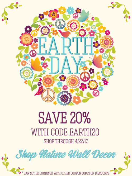 Happy Earth Day! Save 20% with code EARTH20. Ends tonight!