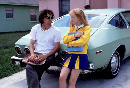 suicideblonde:  Tim Burton with Winona Ryder during the filming of Edward Scissorhands