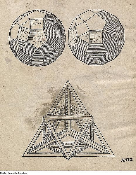 ulaulaman:  Page from Geometria by Augustin Hirschvogel  Hirschvogel (1503–1553), a German artist, mathematician, and cartographer known primarily for his etchings. In this version from the Deutsche Fotothek, amid the rigid lines of the geometrical sketches appear the chaotic forms of stains which lie on each of the pages.  See more on the main site via publicdomainreview
